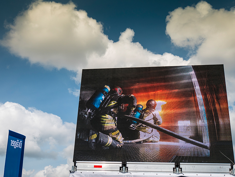 Using BAUER breathing air in firefighting