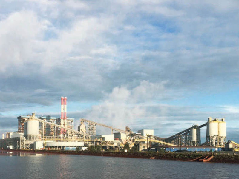 The refinery, 11 kilometres south of the port of Toamasina
