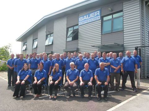 The team of the BAUER subsidiary in Great Britain
