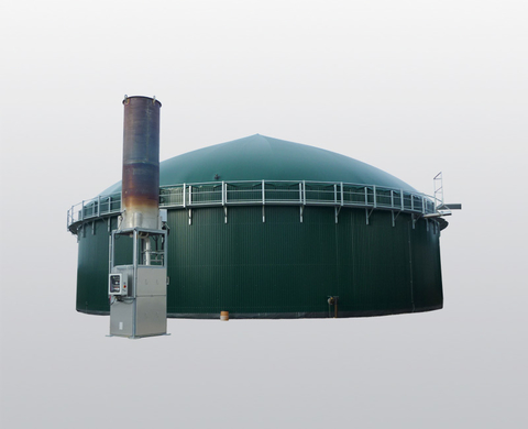 Biogas treatment unit