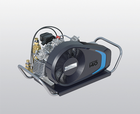 BAUER CAPITANO 140 breathing air compressor with electric motor