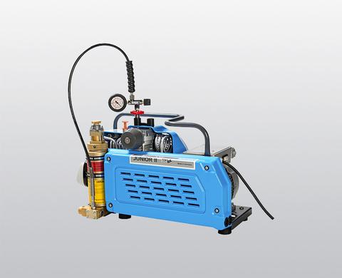 BAUER JUNIOR II-E high-pressure compressor, rear view