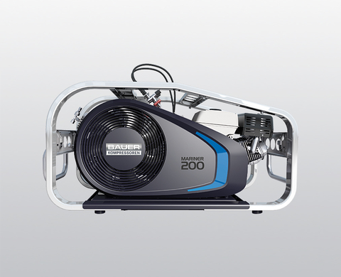 BAUER MARINER 200-B high-pressure compressor with petrol engine