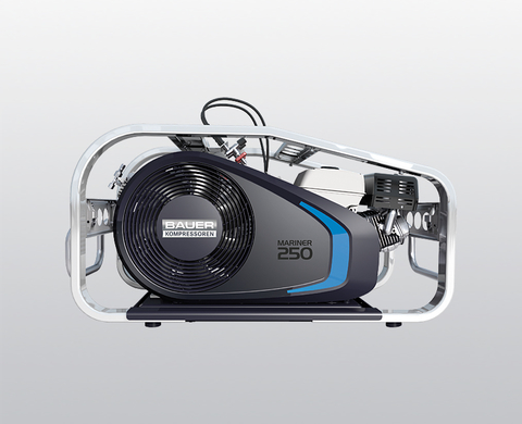 BAUER MARINER 250-B high-pressure compressor with petrol engine