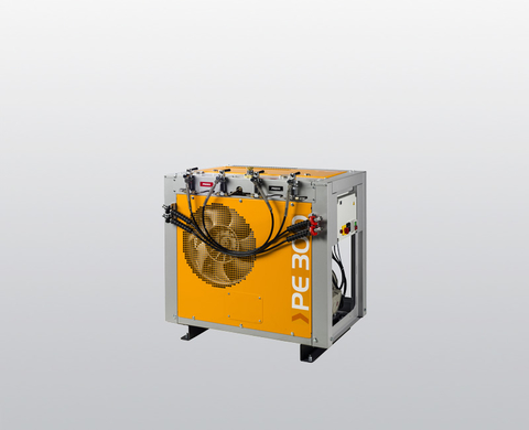 BAUER PE-HE breathing air compressor with filling devices (filling hoses)