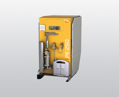 BAUER PE-MVE breathing air compressor with larger P 41 filter system and SECURUS filter cartridge monitoring
