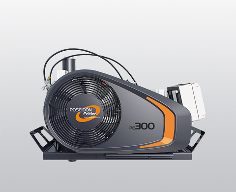 BAUER PE-TE breathing air compressor from front