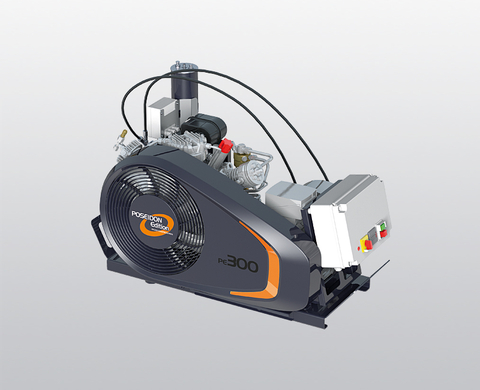 BAUER PE-TE breathing air compressor with larger filter system and control