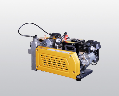 BAUER PE 100 high-pressure compressor with petrol engine, rear view
