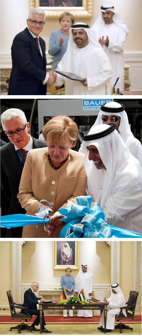 2010 - German Chancellor Dr. Angela Merkel at the opening of our Natural Gas Filling Station in Abu Dhabi