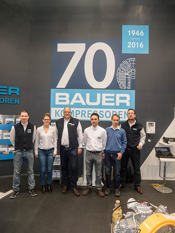 BAUER's trade show team at boot