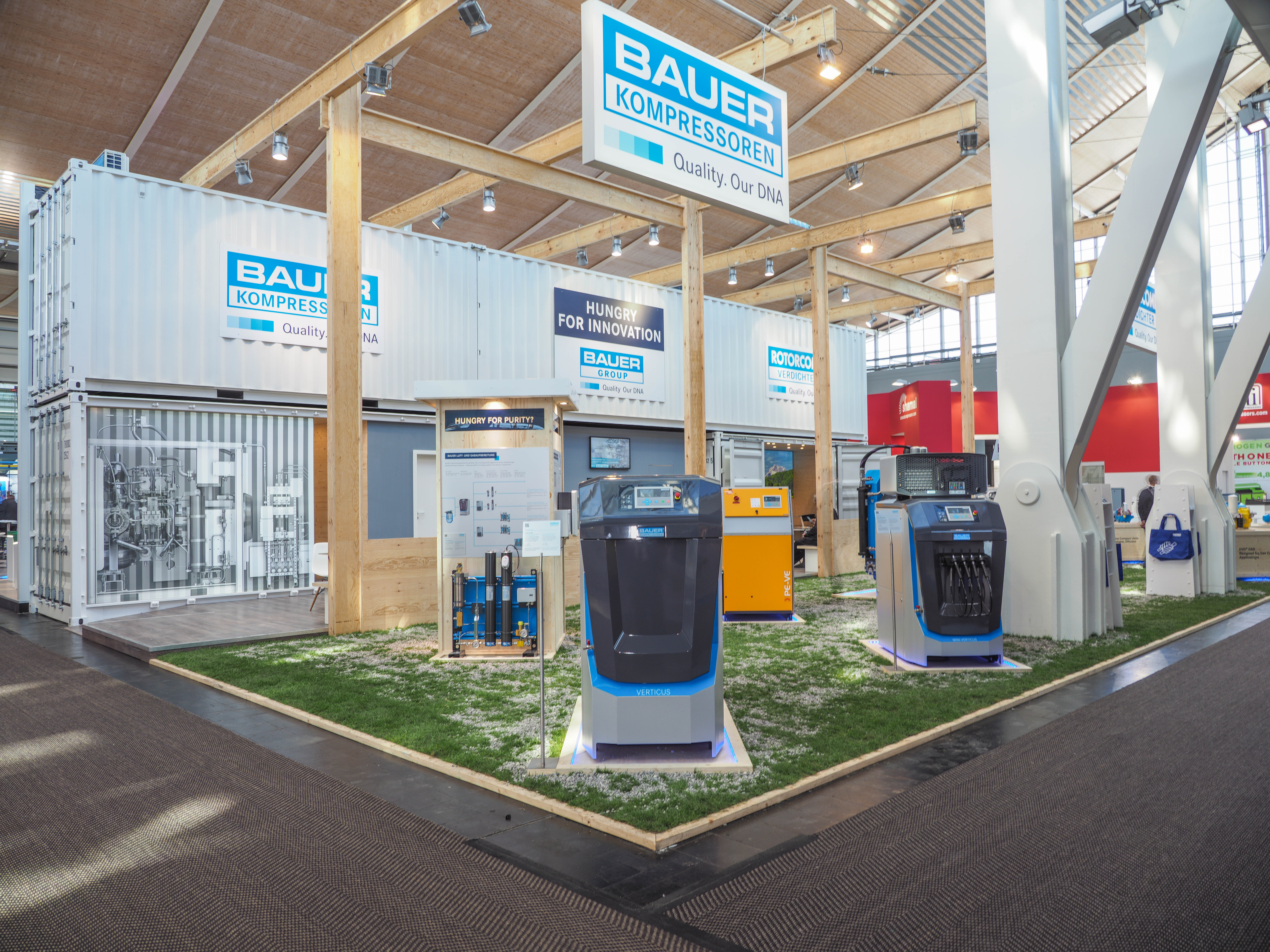 The bauer exhibion stand - Focus on sustainability