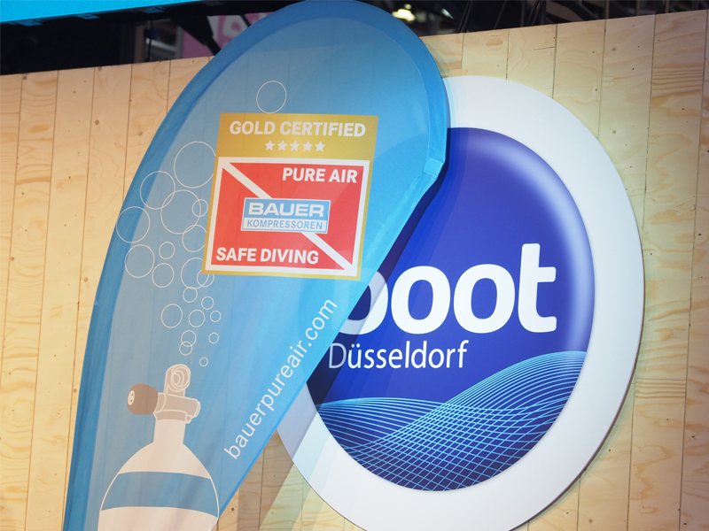 The boot Dive Center was the first dive centre in the world to receive the new BAUER PureAir Gold Standard certification confirming the purity and safety of its breathing air